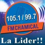 Logo da emissora Radio Chamical 105.1 FM