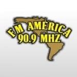 Logo da emissora Radio América 90.9 FM
