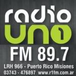 Logo da emissora Radio Uno 89.7 FM