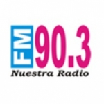 Logo da emissora Nuestra Radio 90.3 FM