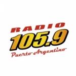 Logo da emissora Radio Puerto Argentino 105.9 FM