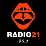 Logo da emissora Radio 21 90.1 FM