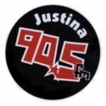 Logo da emissora Radio Justina 90.5 FM