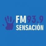 Logo da emissora Radio Sensación 93.9 FM