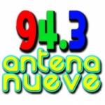 Logo da emissora Radio Antena Nueve 94.3 FM