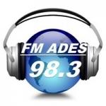 Logo da emissora Radio Ades 98.3 FM