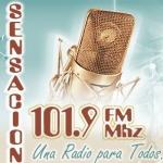 Logo da emissora Radio Sensacion 101.9 FM