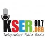 Logo da emissora KSER 90.7 FM