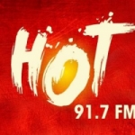Logo da emissora Radio Hot 91.7 FM