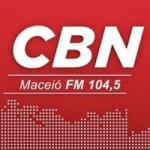 Logo da emissora Rádio CBN Maceió 104.5 FM