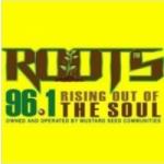 Logo da emissora Roots Jamaica 96.1 FM
