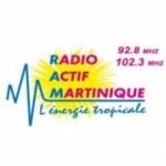 Logo da emissora Radio Actif Martinique 92.8 FM