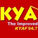 Logo da emissora KYA 94.7 FM