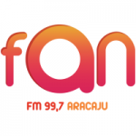 Logo da emissora Rádio Fan 99.7 FM