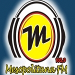 Logo da emissora Rádio Mesopolitana 105.9 FM