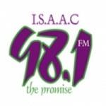 Logo da emissora Radio Isaac 98.1 FM