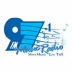 Logo da emissora Music Radio 97.1 FM