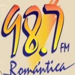 Logo da emissora Radio Romantica 98.7 FM