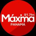 Logo da emissora Radio Maxima 91.7 FM