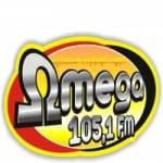 Logo da emissora Rádio Ômega 104.9 FM