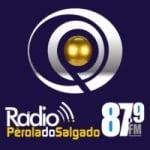 Logo da emissora Rádio Pérola do Salgado 87.9 FM