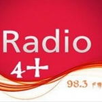 Logo da emissora Radio 4 Plus 98.3 FM