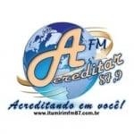 Logo da emissora Rádio Acreditar 87.9 FM