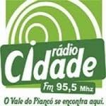 Logo da emissora Rádio Cidade 95.5 FM