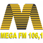 Logo da emissora Rádio Mega 106.1 FM