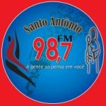 Logo da emissora Rádio Santo Antônio 98.7 FM