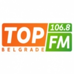 Logo da emissora Top 106.8 FM