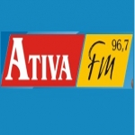 Logo da emissora Rádio Ativa 96.7 FM