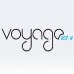Logo da emissora Radyo Voyage 107.4 FM