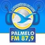 Logo da emissora Rádio Palmelo 87.9 FM