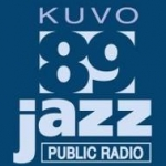 Logo da emissora KUVO 89.3 FM Jazz