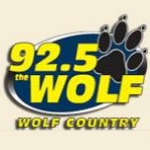 Logo da emissora KWOF 92.5 FM HD The Wolf