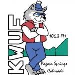 Logo da emissora KWUF 106.3 FM