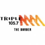 Logo da emissora Radio Triple M The Border 105.7