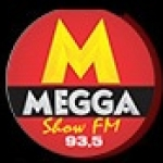 Logo da emissora Rádio Megga 93.5 FM