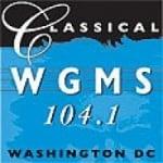Logo da emissora Radio WGMS 104.1 FM