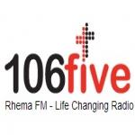 Logo da emissora Radio Rhema 106 FM