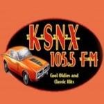 Logo da emissora Radio KSNX 105.5 FM