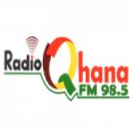 Logo da emissora Radio Qhana 98.5 FM