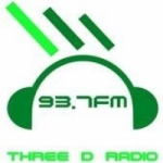 Logo da emissora Radio Three D 93.7 FM