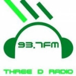 Logo da emissora Three D Radio 93.7 FM