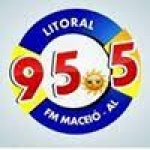 Logo da emissora Rádio Litoral 95.5 FM
