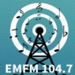 Logo da emissora Radio EM 104.7 FM