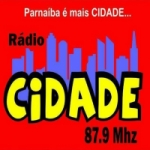 Logo da emissora Rádio Cidade Parnaíba 87.9 FM