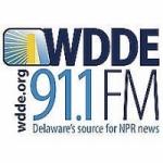 Logo da emissora Radio WDDE 91.1 FM