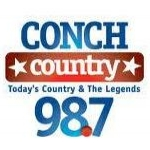 Logo da emissora WAVK 97.7 FM Conch Country